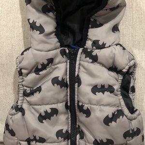 Toddler Batman Puffer Vest size 2T